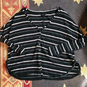 Striped Thermal Lounge Shirt | Urban Outfitters
